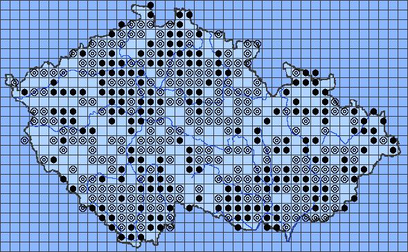mapa rozšíření slunéčka východního